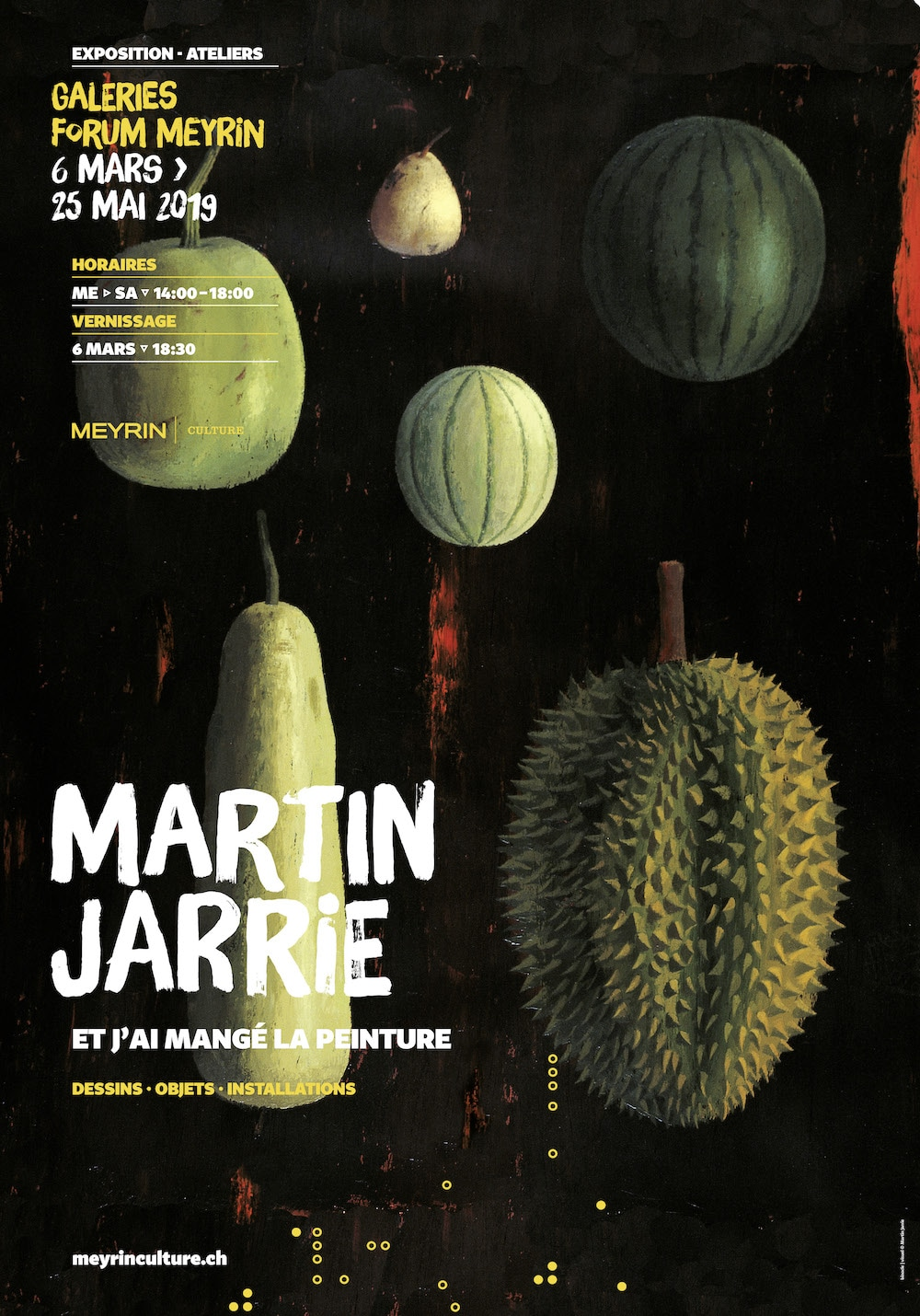 Affiche expo Martin Jarrie